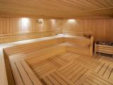 Sauna, der er både en for mænd og en for kvinder.